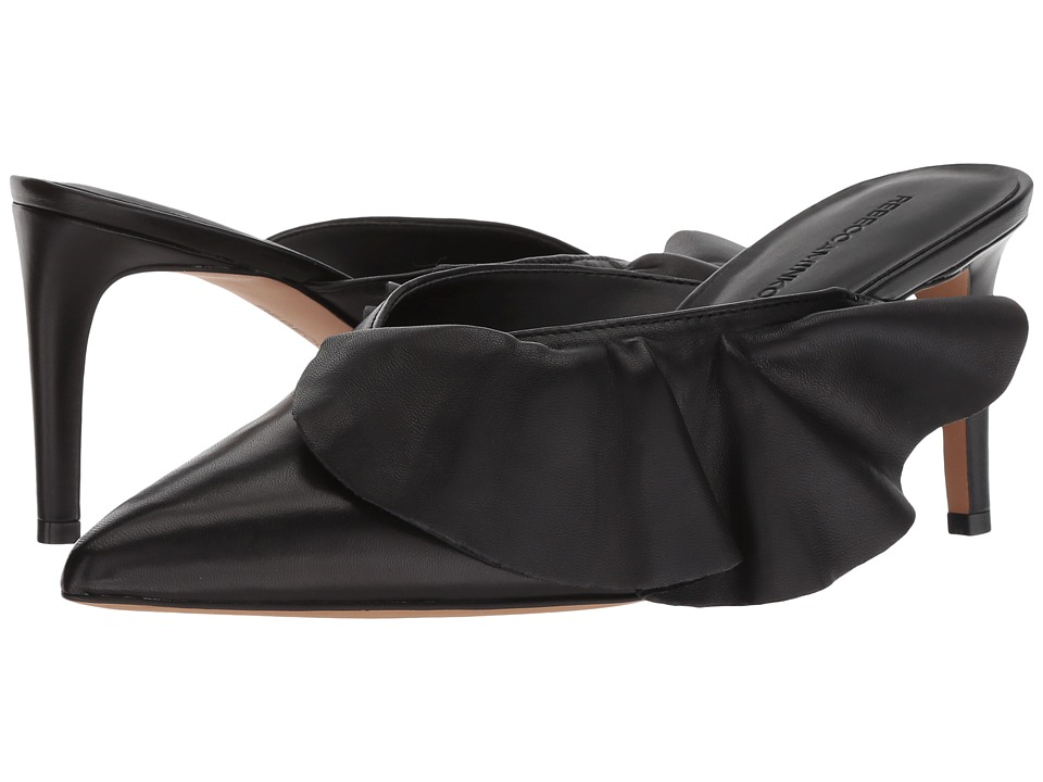 Rebecca Minkoff Giov (Black Leather) Women's Slip-on Dress Shoes
