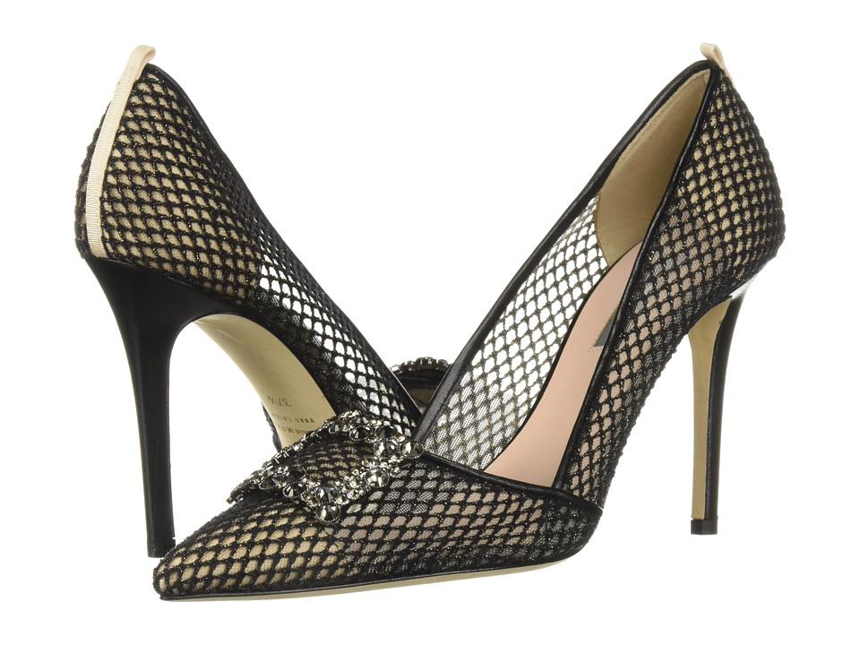 SJP by Sarah Jessica Parker Windsor (Black Habana Mesh) Women's Shoes