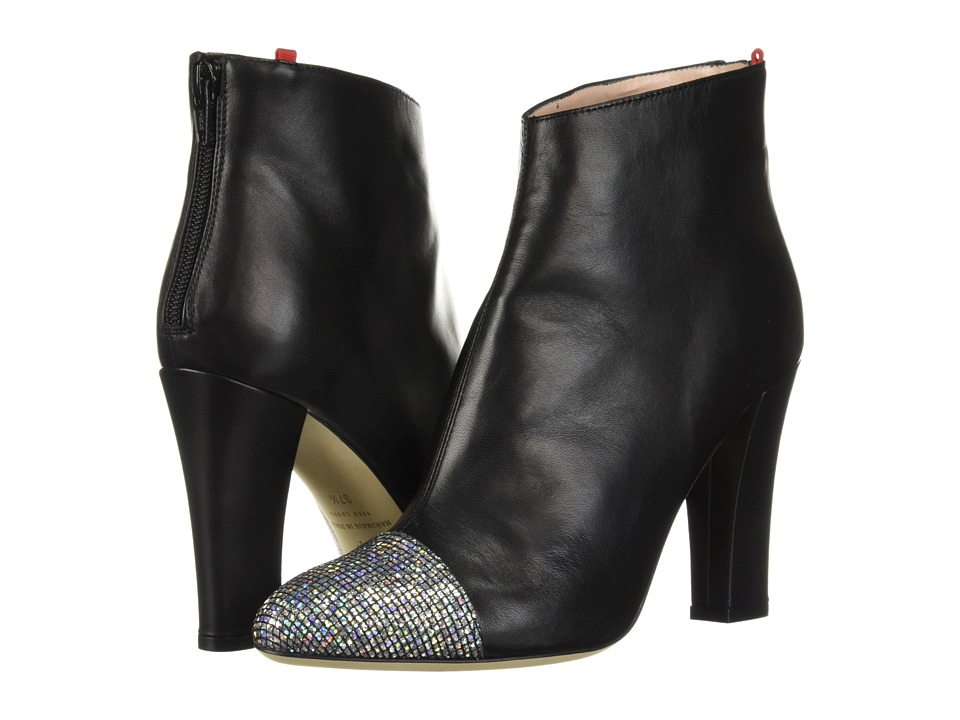 SJP by Sarah Jessica Parker Rumi (Black Nappa/Silver Scintillate) Women's Shoes