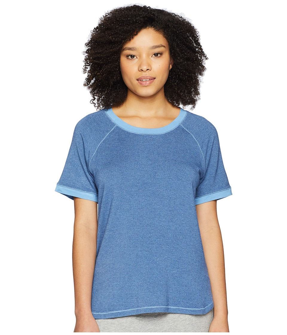 Felina - Jamie Marl Terry Scoop Neck Raglan Sleeve Top (Blueprint) Womens Pajama