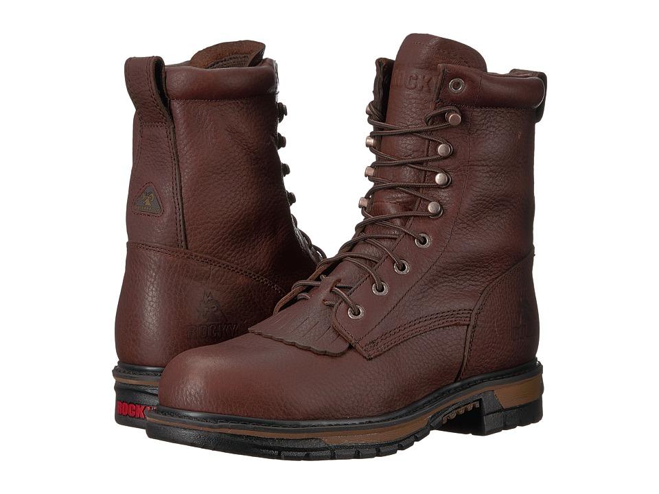 Rocky - 8 Original Ride Steel Toe WP (Dark Brown) Mens Work Boots