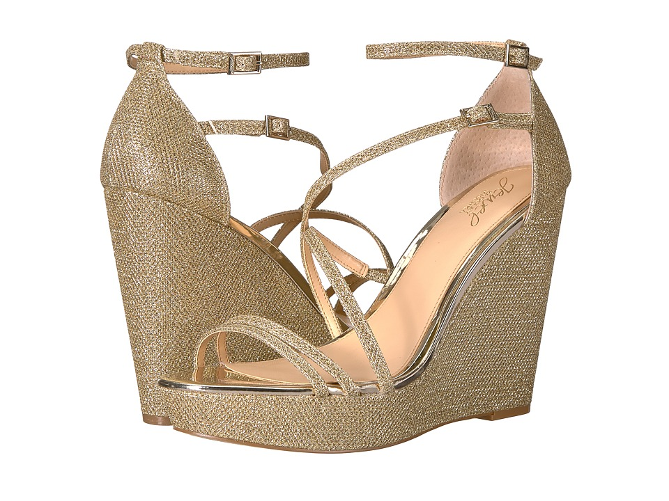 Jewel Badgley Mischka - Tatsu (Light Gold) Womens Shoes