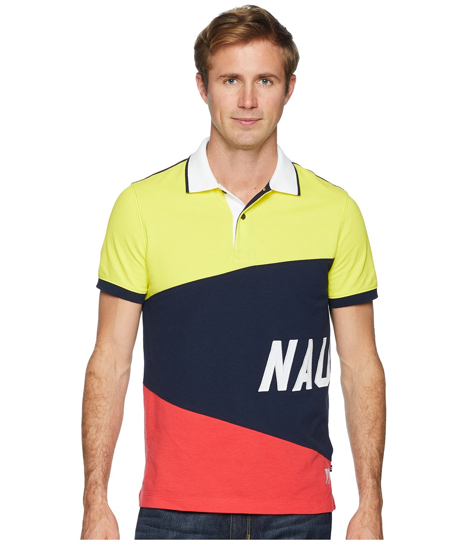 Nautica - Short Sleeve Sail Flag Polo (Navy) Mens Clothing