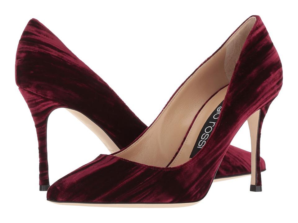 Sergio Rossi A43843-MTE131 (Ruby Velvet) High Heels