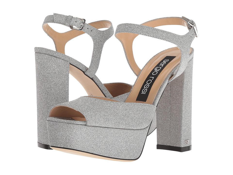Sergio Rossi A81800-MMMVL11 (Silver Glitter) High Heels