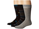Steve Madden 3-Pack Novelty Print/Stripe Crew Socks
