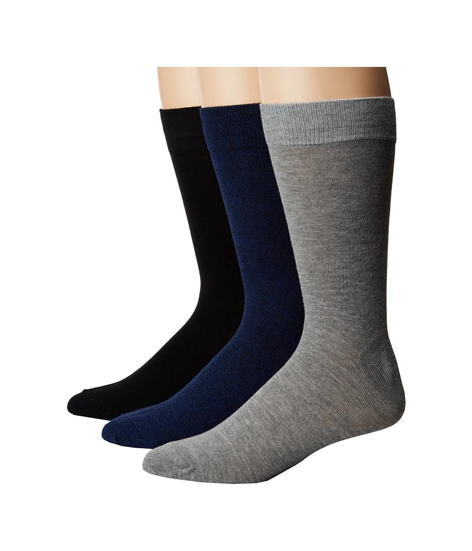 Steve Madden 3-Pack Marl Solid Crew Socks (Navy/Grey) Men