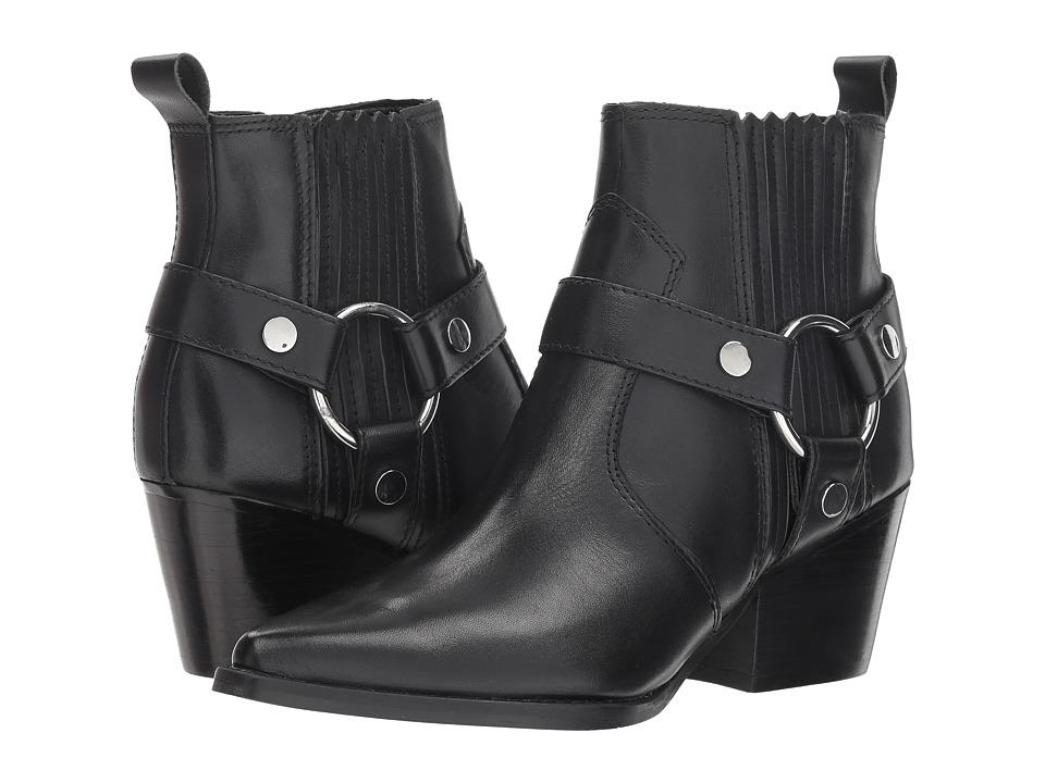 Marc Fisher LTD Halie (Black Leather) Women's Shoes