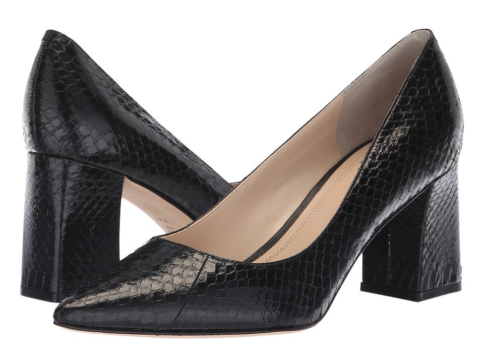 Marc Fisher LTD Zalas (Black Solid Shiny Snake) Women's Shoes