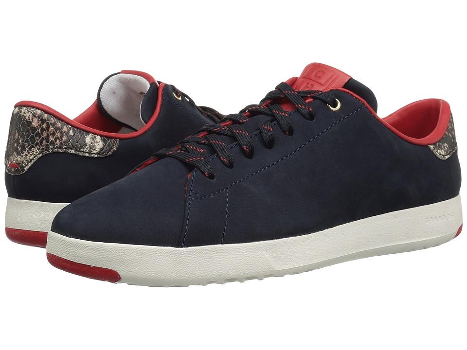Cole Haan Grandpro Tennis (Marine Blue Nubuck/Roccia Snake/Ivory)