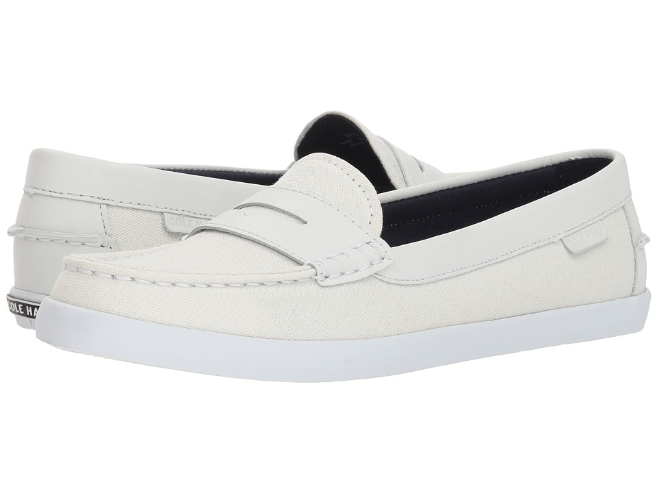 Cole Haan Pinch Weekender (Chalk Canvas/Optic White Leather/Optic White) Slip-On Shoes