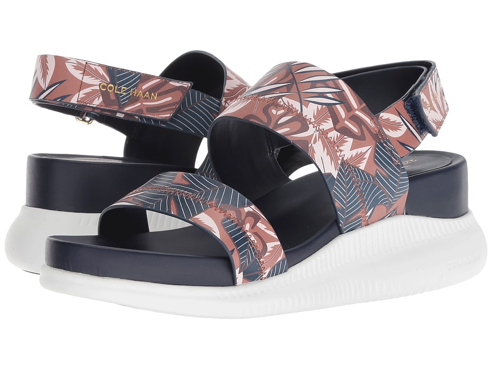Cole Haan 2.Zerogrand Slide Sandal (Tropical Printed Leather/Optic White) Sandals