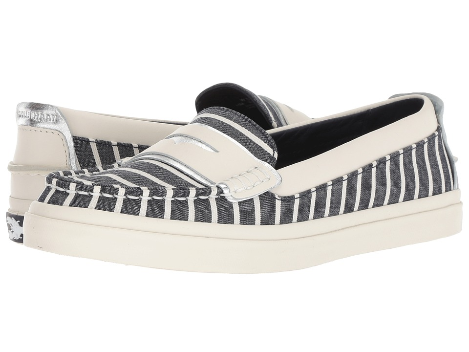 Cole Haan Pinch Weekender Luxe (Nautical Stripe Canvas/Ivory Leather/Ivory) Women's Shoes
