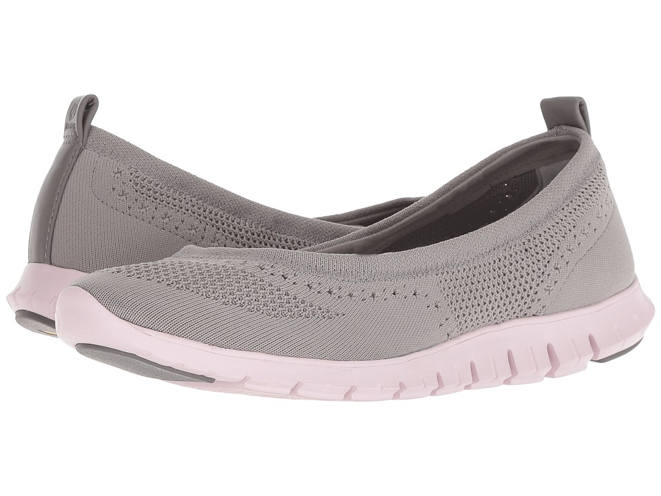 Cole Haan Zerogrand Stitchlite Ballet (Ironstone Knit/Pink Lilac) Women's Shoes