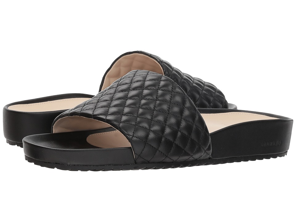 Cole Haan G.OS Pinch Montauk Slide (Black Quilted Leather) Slides