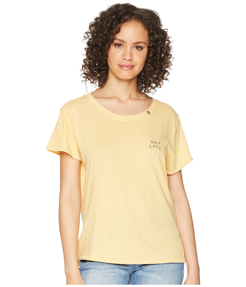 Spiritual Gangster - Only Love Classic Tee (Yellow) Womens T Shirt
