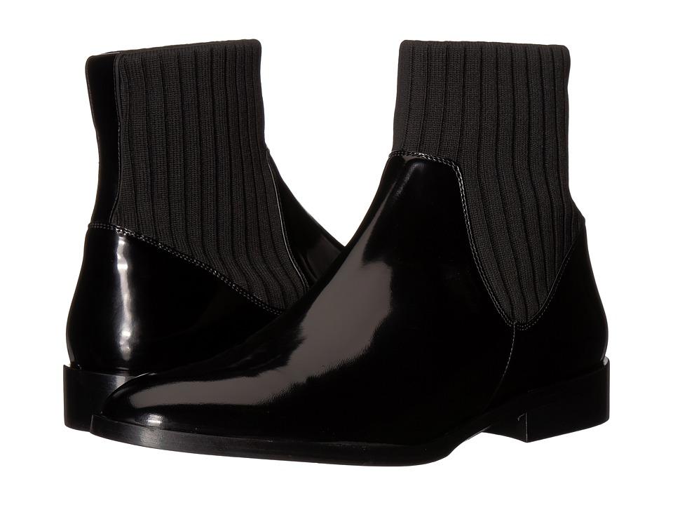 Vince Perlow (Black Indios Leather/Knit) Women's Shoes