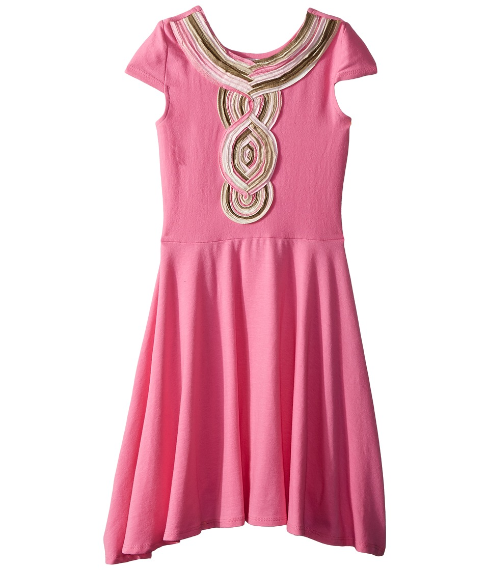 fiveloaves twofish - Casablanca Skater Dress (Big Kids) (Pink) Girls Dress