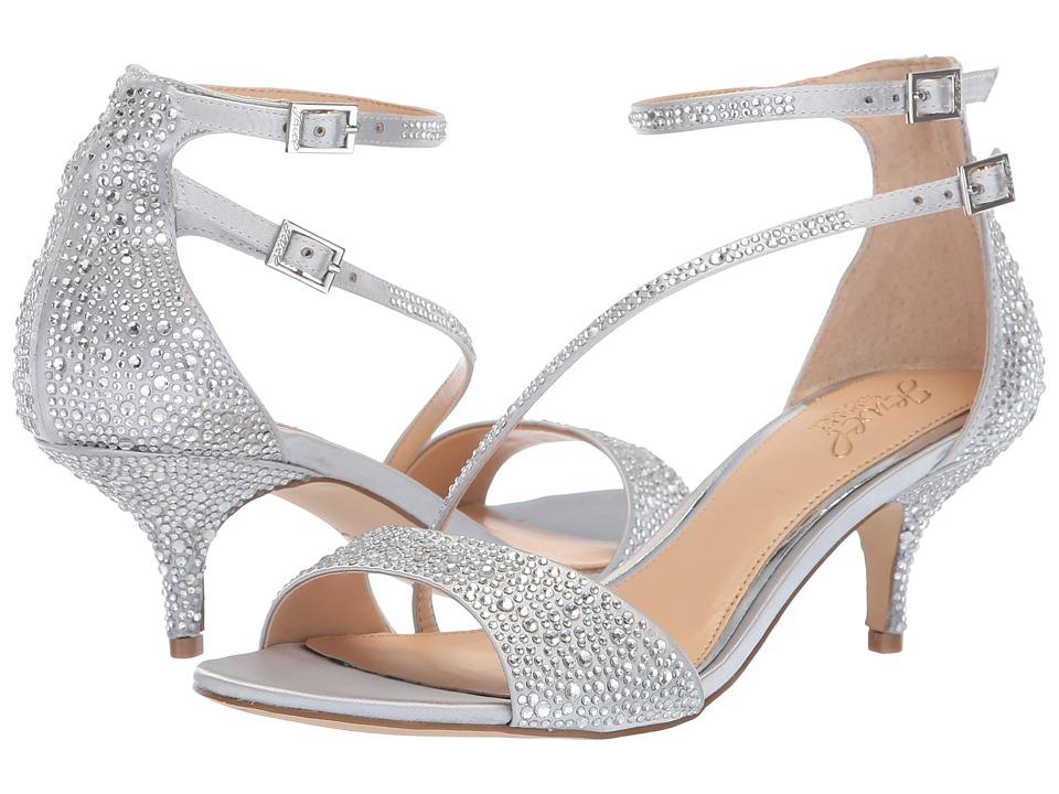 Jewel Badgley Mischka Tangerine (Silver) Women's Shoes