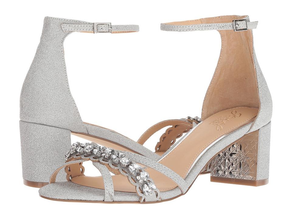 Jewel Badgley Mischka Giona (Silver) Women's Shoes