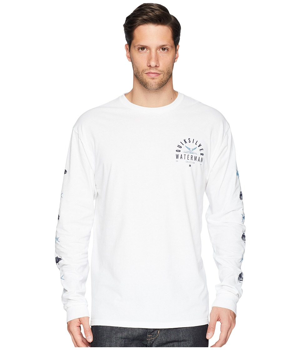 Quiksilver Waterman - Fresh Catch Long Sleeve Tee (White) Mens Long Sleeve Pullover