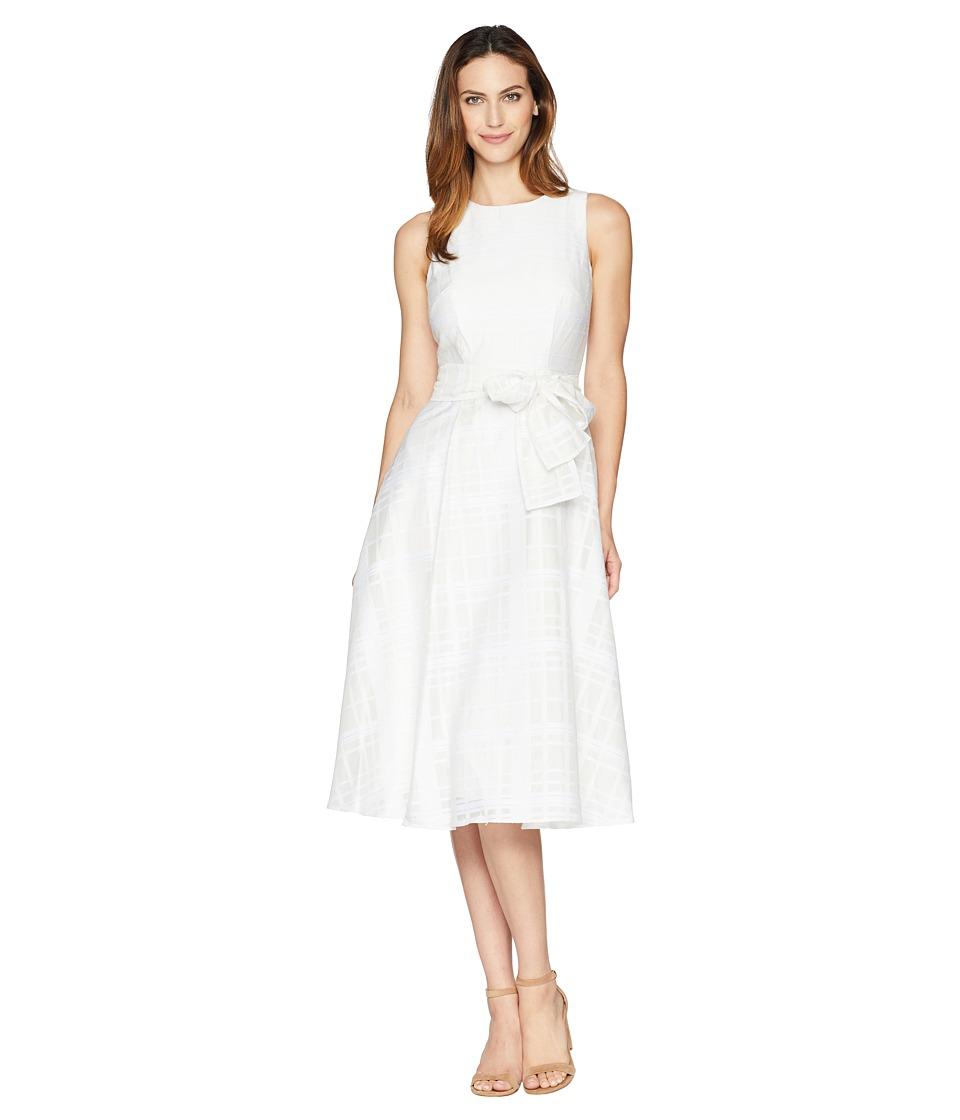 Calvin Klein - Belted Midi Dress CD8H29NY (White/White) Womens Dress