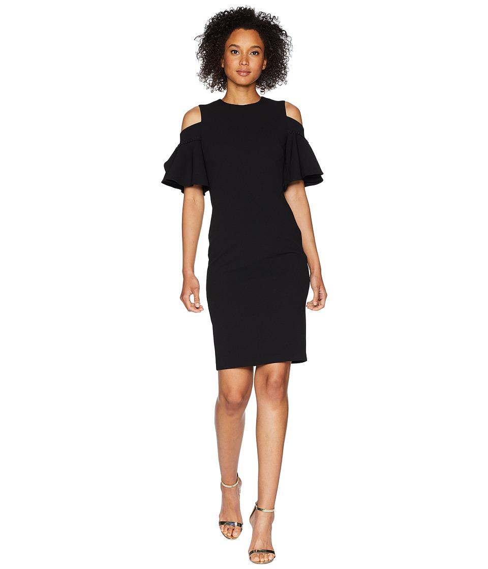 Calvin Klein - Cold Shoulder Sheath Dress CD8C14LC (Black) Womens Dress