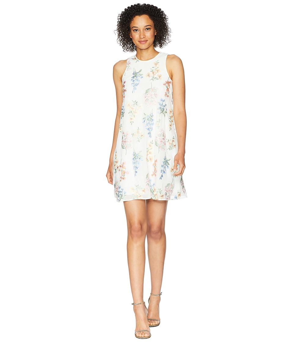 Calvin Klein - Embroidered Trapeze Dress CD8H87NJ (White Multi) Womens Dress