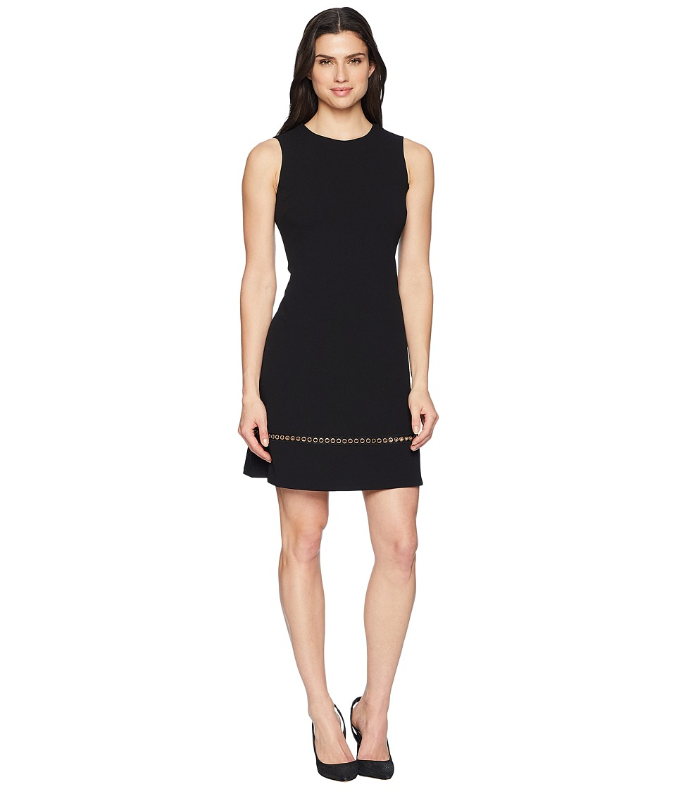 Calvin Klein - Chain Detail at Hem Sheath Dress CD8C14LK (Black) Womens Dress