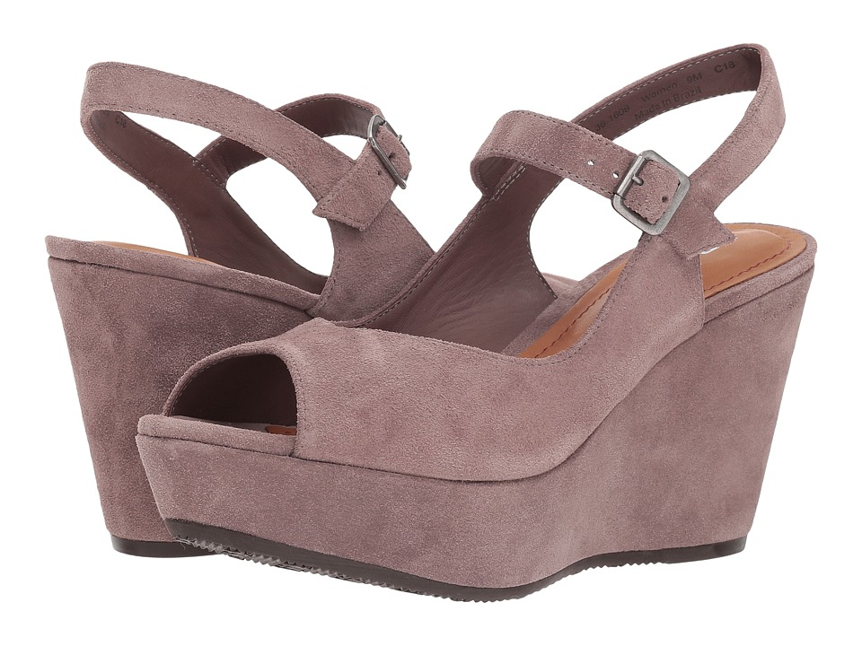 Trask Tessa (Blush Oiled Suede) Wedges