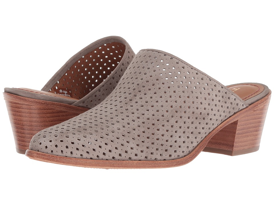 Trask Teresa Perf (Taupe Italian Kid Suede) Slip-On Shoes