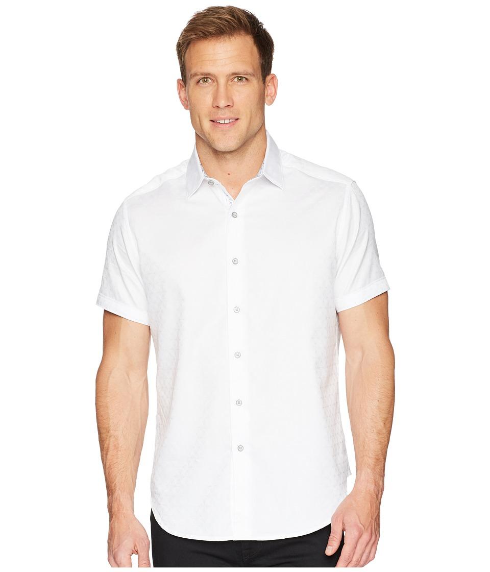 Robert Graham - Diamante Short Sleeve Sports Shirt (White) Mens Clothing