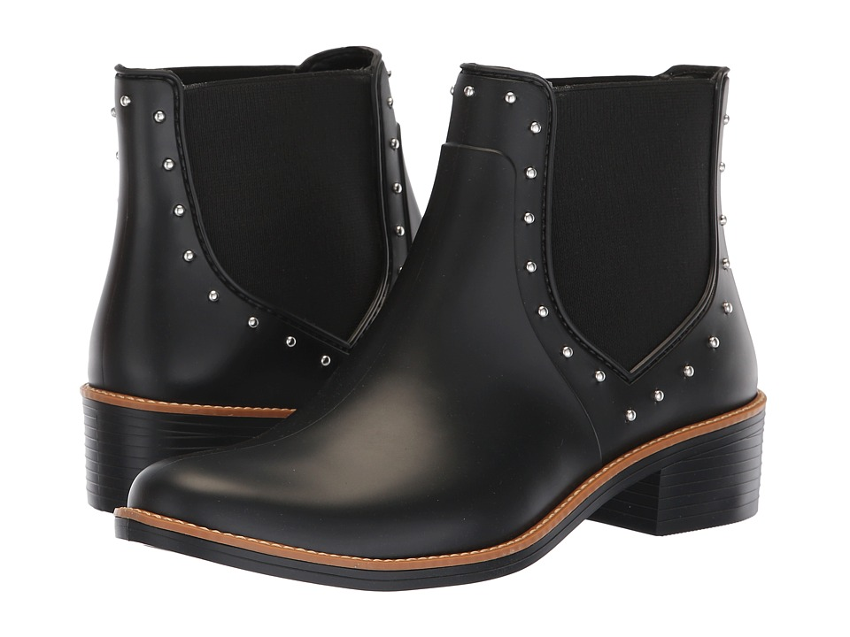 Bernardo Peyton Rain Boots (Black Rubber) Women's Rain Boots