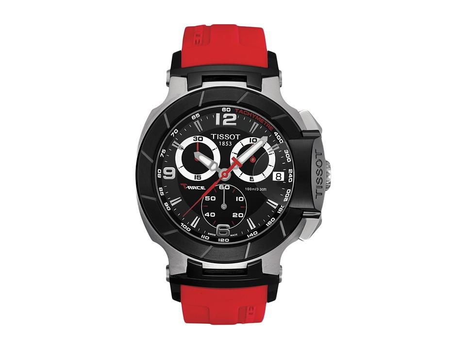 Tissot T-Race Chronograph - T0484172705701 (Black/Red) Wa...