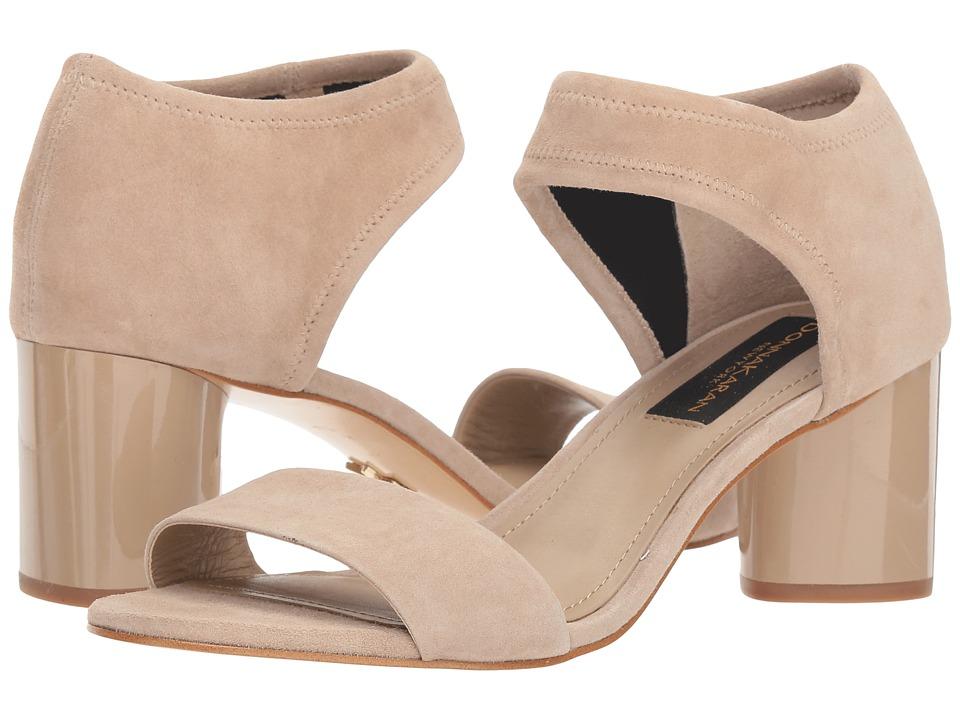 Donna Karan Gracie (Beige Suede/Stretch Suede) 1-2 inch heel Shoes