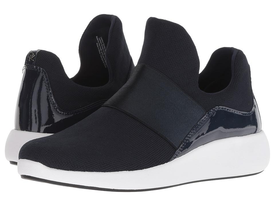 Donna Karan Cory (Dark Blue Knit/Patent) Women's Shoes