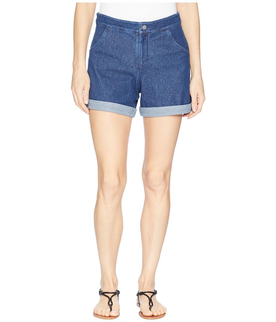 Lysse - Alana Denim Shorts (Mid Wash) Womens Shorts