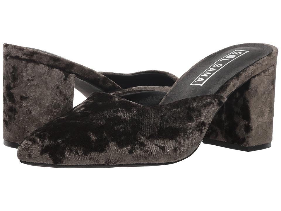 Sol Sana Iris Mule (Olive Velvet) Women's Clog/Mule Shoes