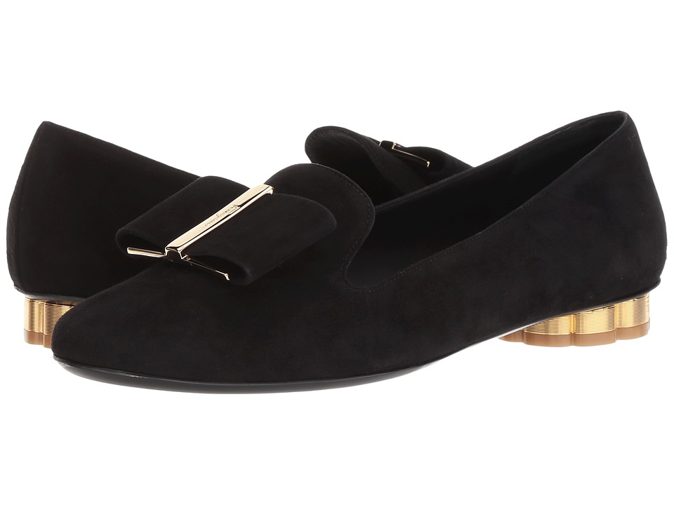 Salvatore Ferragamo Sarno (Nero Suede) Women's Shoes