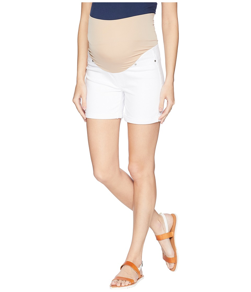 Liverpool - Maternity Cuff Shorts in Comfort Stretch Denim in Bright White (Bright White) Womens Shorts