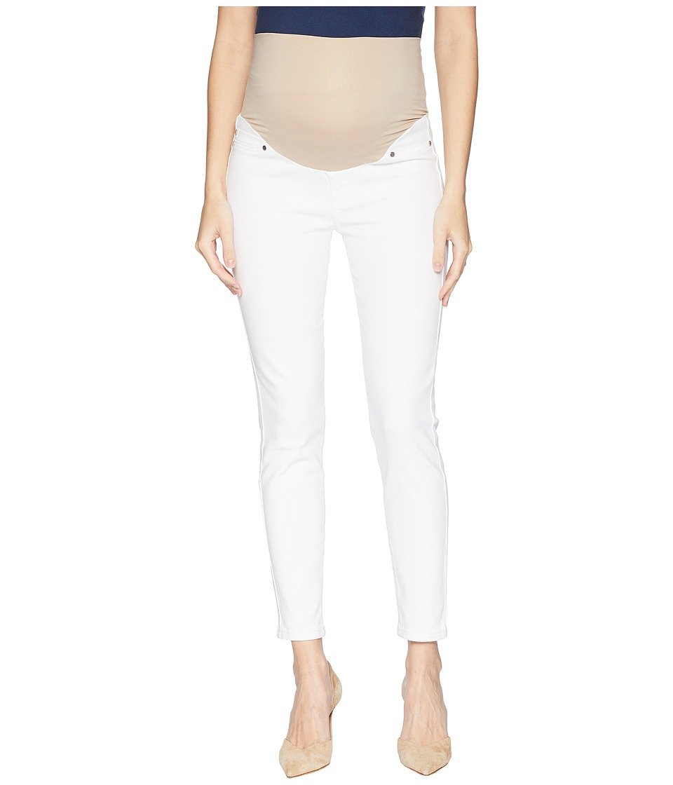 Liverpool - Maternity Ankle Skinny in Super Soft Stretch Denim in Bright White (Bright White) Womens Jeans
