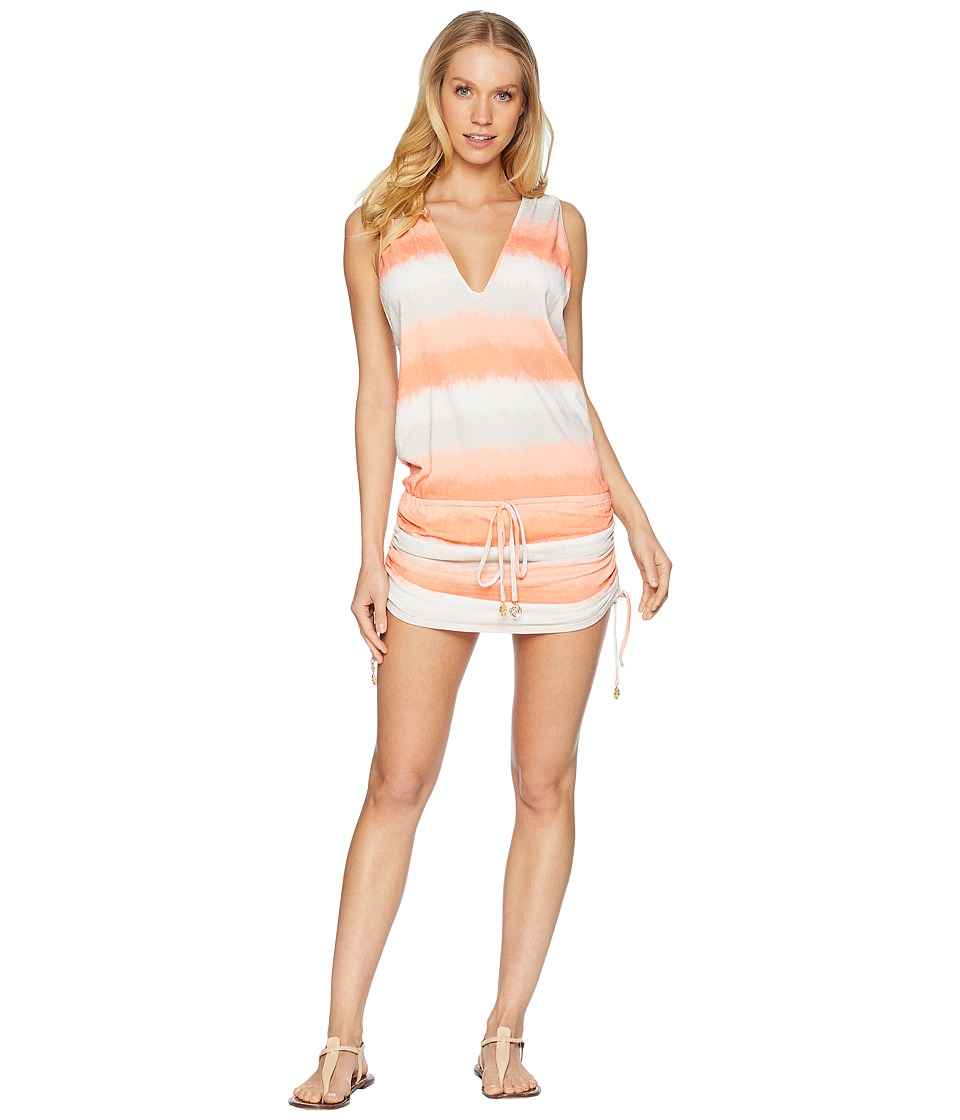 Luli Fama - Los Flamencos T-Back Mini Dress Cover-Up (Multi) Womens Swimwear