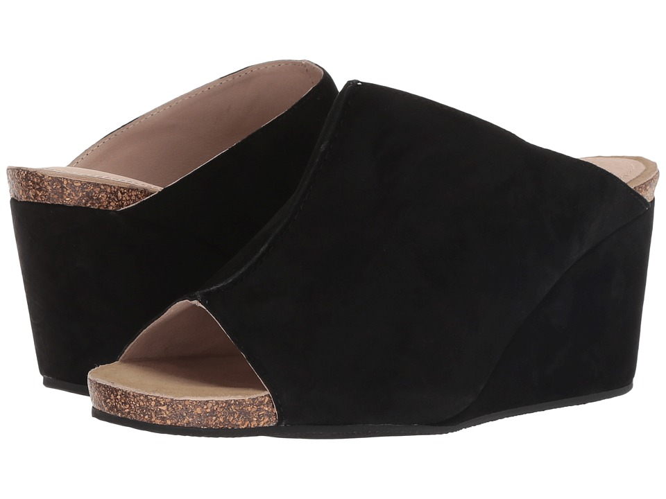 Sudini Bailey (Black Kid Suede) Wedges