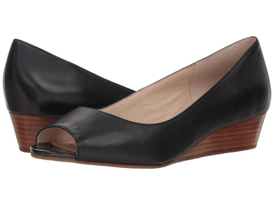 Sudini Willa (Black Leather) Wedges