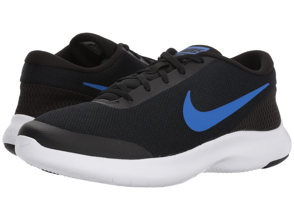 Nike - Flex Experience RN 7 Wide (Black/Hyper Royal Obsidian) Mens Running Shoes