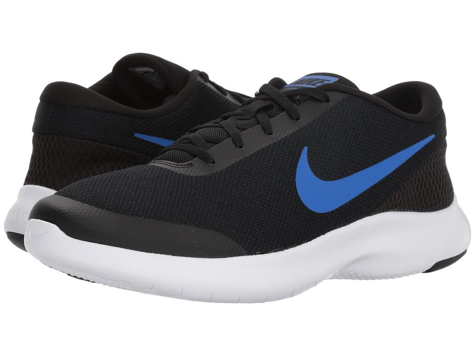 Nike - Flex Experience RN 7 Wide (Black/Hyper Royal Obsidian) Mens Running Shoes