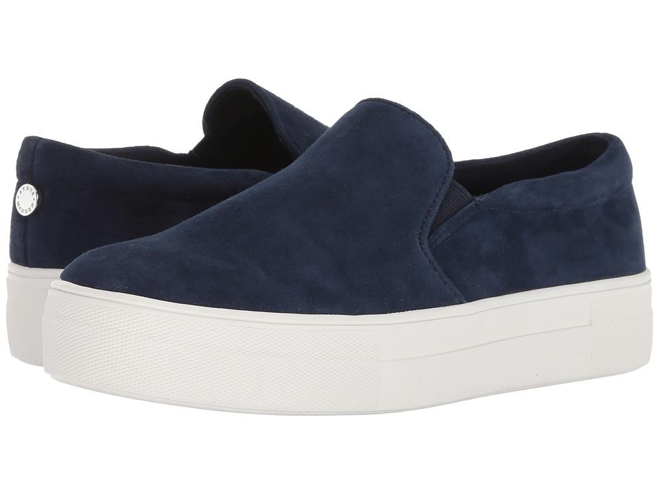 Steve Madden Gills Sneaker (Navy Suede) Women's Shoes