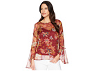 Vince Camuto Flared Sleeve Floral Print Blouse