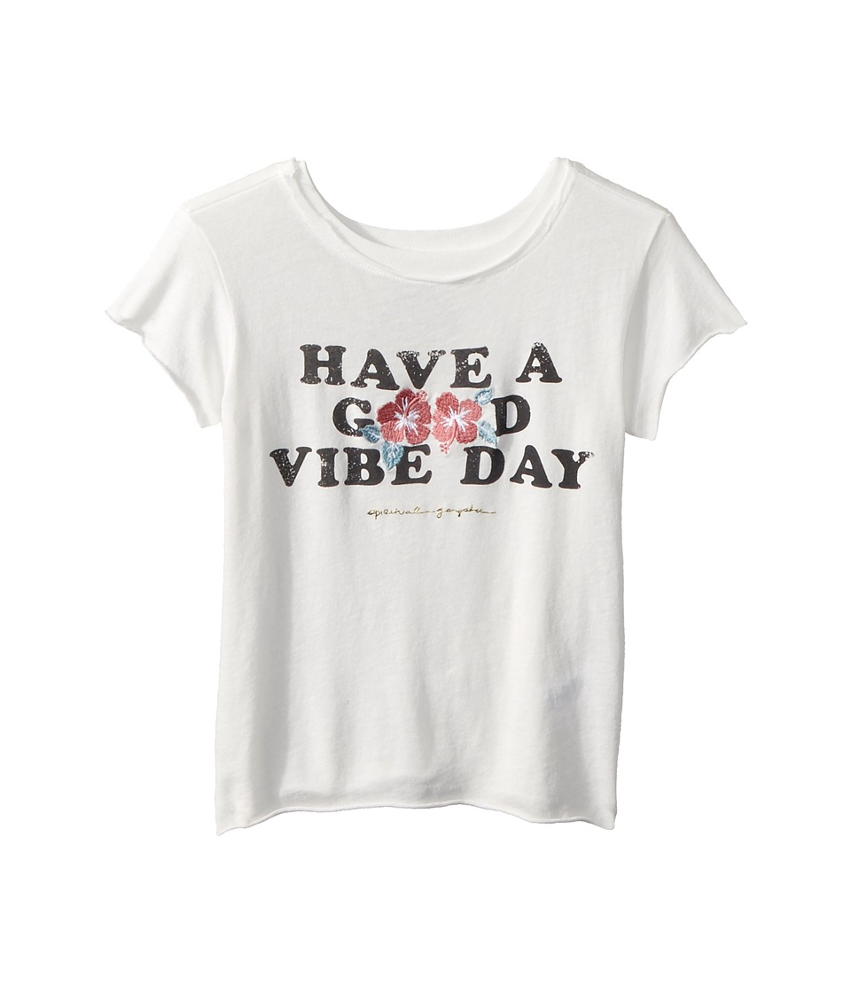 Spiritual Gangster Kids - Good Vibe Day T-Shirt (Toddler/Little Kids/Big Kids) (Stardust) Girls T Shirt