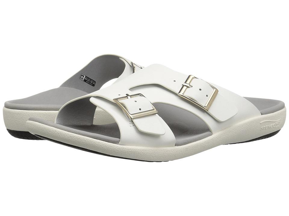 Spenco Brighton Slide Sandal (White Mist) Women's Shoes